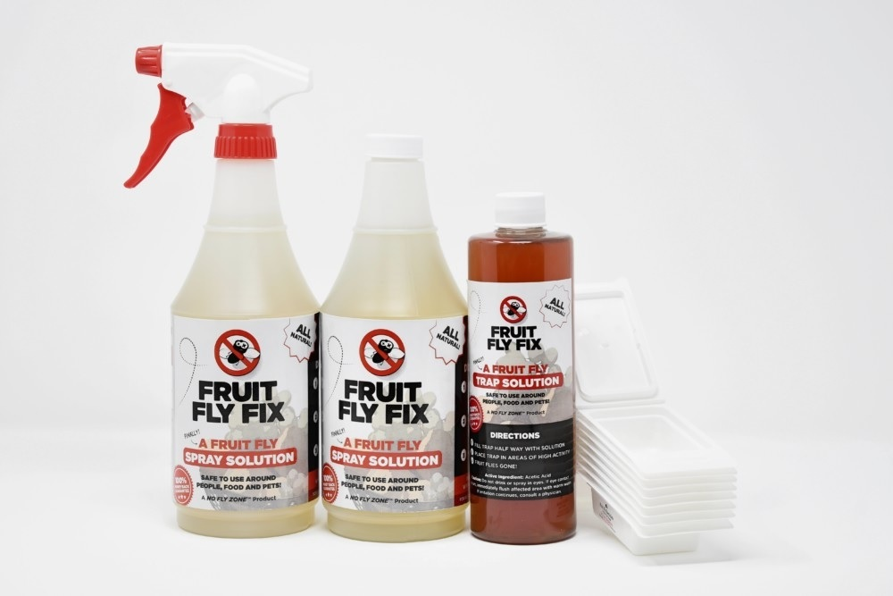 Commercial Products get rid of fruit flies